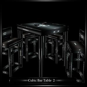 CUBIC BAR TABLE 2