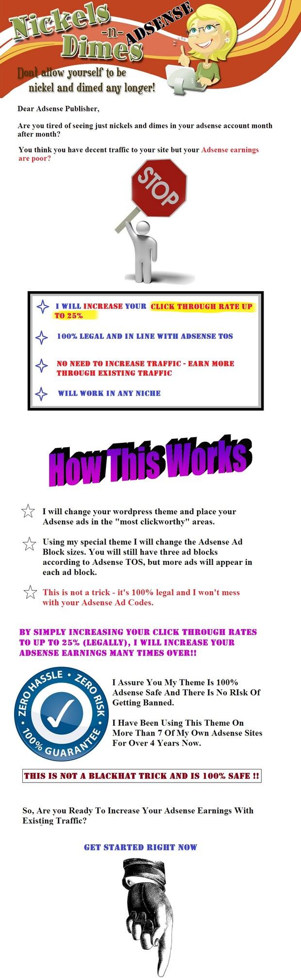 Adsense Sales Page