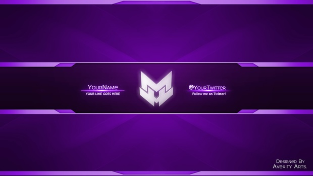 l Amazing YouTube Banner Template l Color Changeable l [FREE]