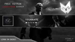 l Hitman l YouTube Banner/Avatar Template! l [Free] [Photoshop]