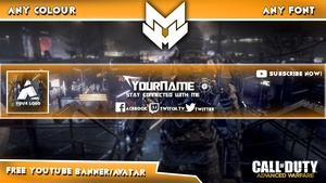 l Advanced Warfare l YouTube l Banner/Avatar l Free Template l