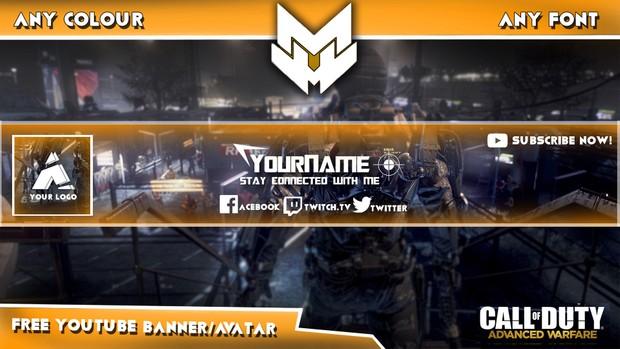 l Advanced Warfare l YouTube l Banner/Avatar l Free Template l