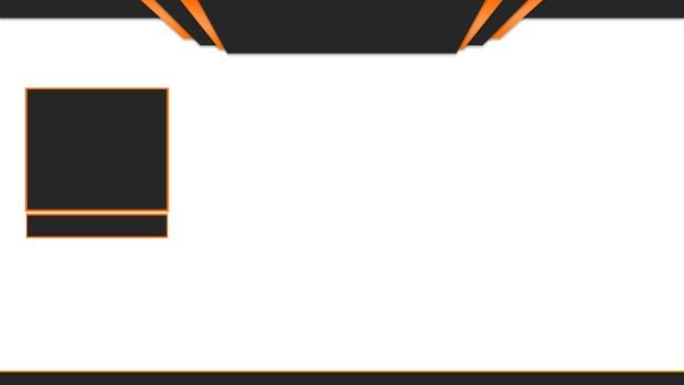 Twitch Overlay Design (Orange & Black