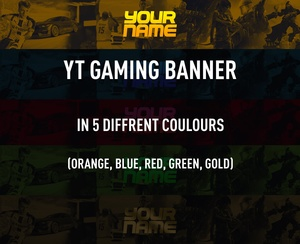 Gaming Banner (5 diffrent colours)