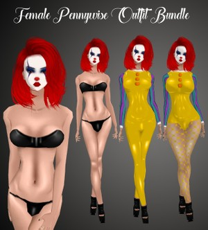 Female Pennywise Outfit Bundle