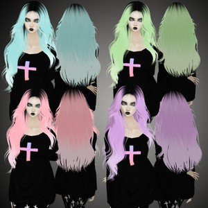 Gothic Pastel Hair Textures