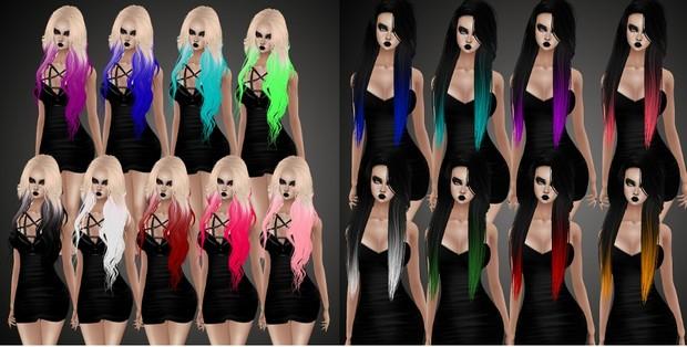 Color Tip Hair Bundle