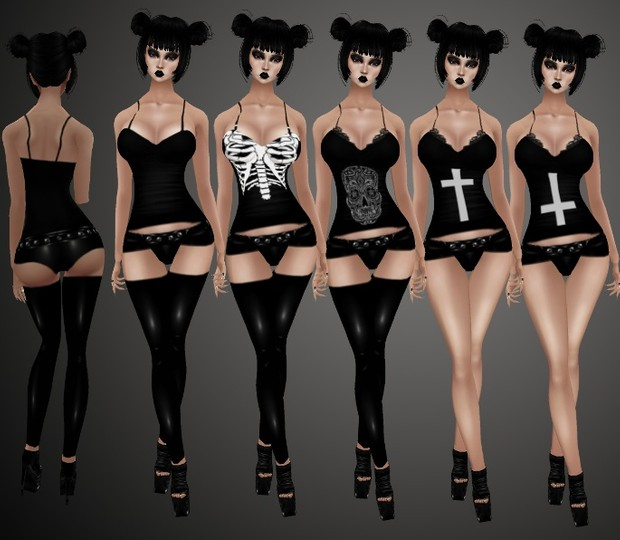 Simple Goth Outfits