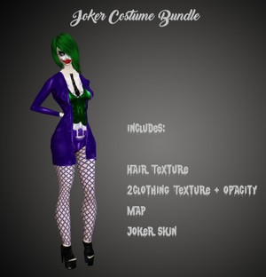 Joker Costume Bundle