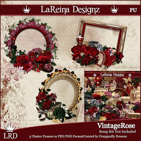 VintageRose - Cluster Frames