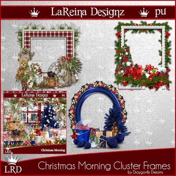 ChristmasMorning - Cluster Frames