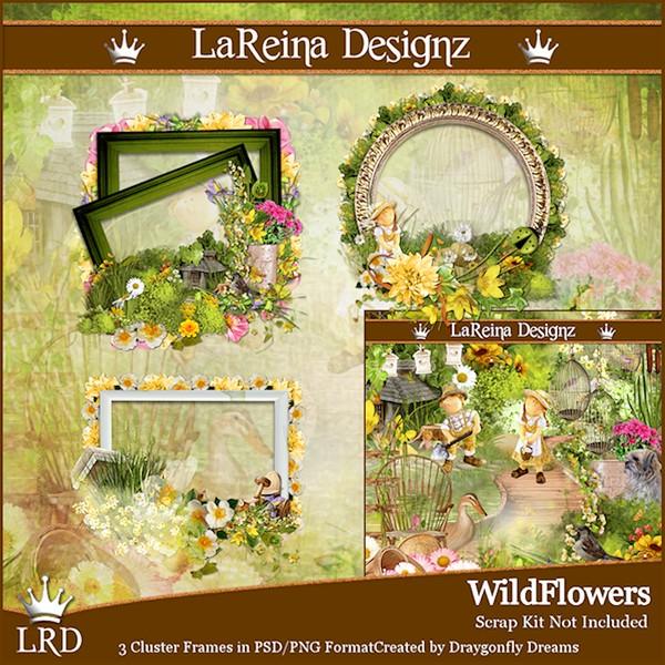 WildFlowers - Cluster Frames