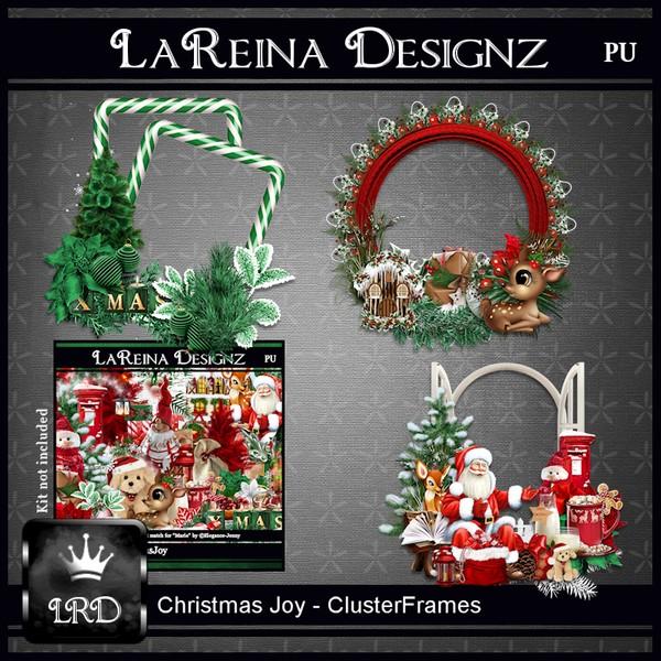 ChristmasJoy - Cluster Frames