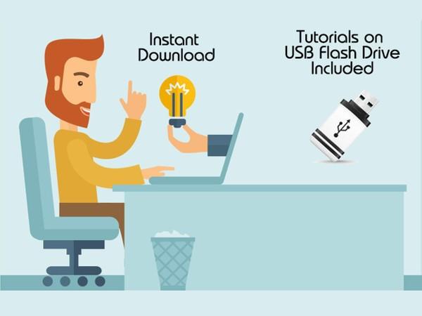 Complete AutoCAD Course - Instant Download + USB Flash Drive