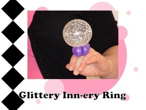 Glittery Inn-ery Balloon Ring by Melissa Vinson