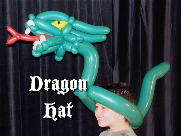 Dragon Balloon Hat Design by Asi Cohen