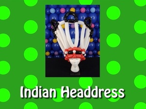 Indian / Native American Headdress Balloon Hat Design by Steven Jones