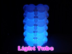 Light Tube Balloon Decor Design by Steven Jones
