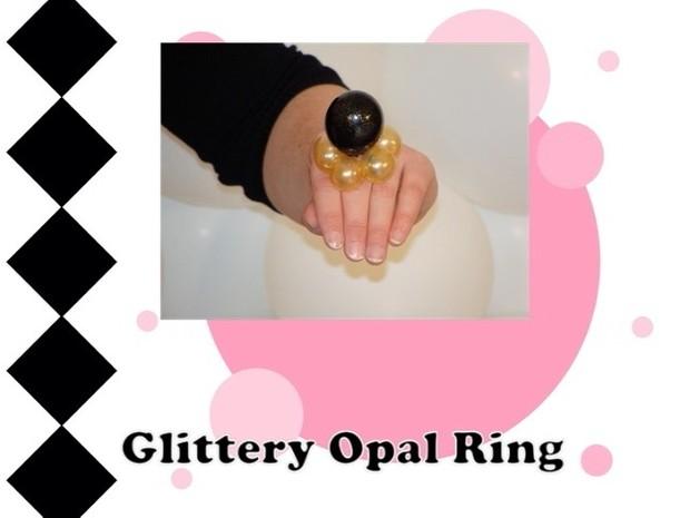 Glittery Opal Balloon Ring Design by Melissa Vinson