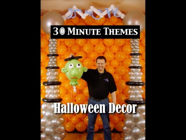 """30 Minute Themes - Halloween"" with Steven Jones - Balloon Decor Instructional Video"