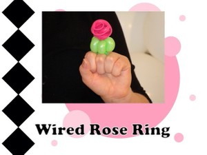 Wired Rose Balloon Ring Design by Melissa Vinson