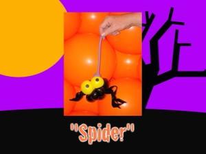 Spider Halloween Balloon Animal by Jeff Hayes