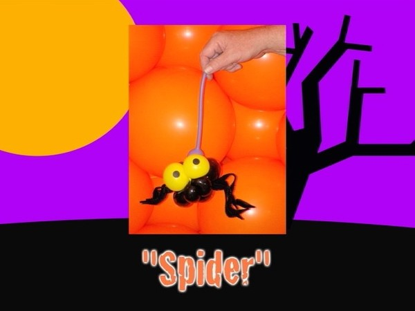 Spider Halloween Balloon Animal by Jeff Hayes
