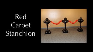 Red Carpet Balloon Stanchions by Melissa Vinson