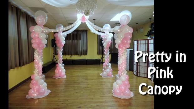 Pretty in Pink Dance Floor Canopy Balloon Design by Alexa Rivera