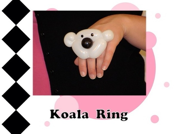 Koala Bear Balloon Animal Ring Design by Melissa Vinson