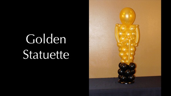 Golden Statuette / Oscar Style Movie Award Balloon Design by Melissa Vinson