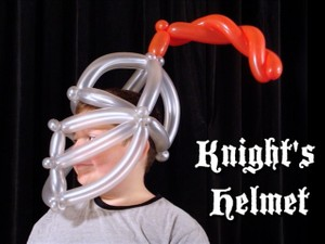 Knight's Helmet Balloon Twisting Recipe by Asi Cohen