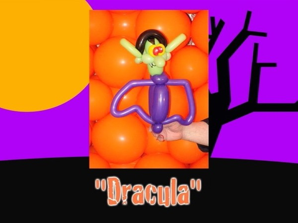 Dracula Balloon Animal Design by Jeff Hayes