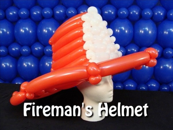Fireman's Helmet Balloon Hat Recipe by Steven Jones