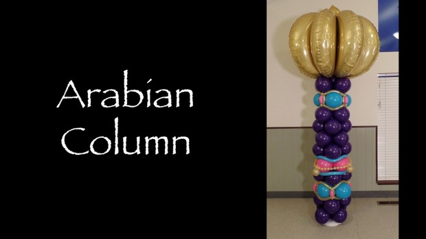Arabian Style Balloon Column Design by Melissa Vinson