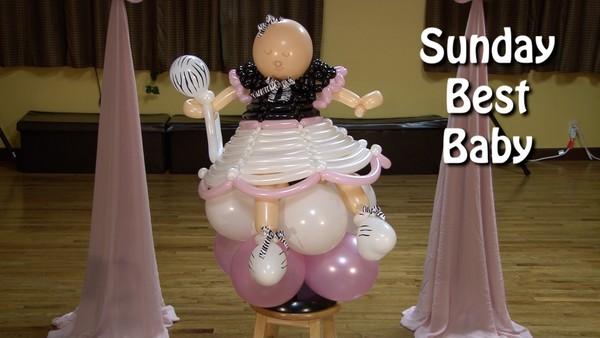 Sunday Best Baby Balloon Sculpture by Alexa Rivera