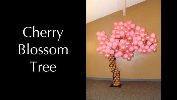 Cherry Blossom Tree Balloon Sculpture Design by Melissa Vinson
