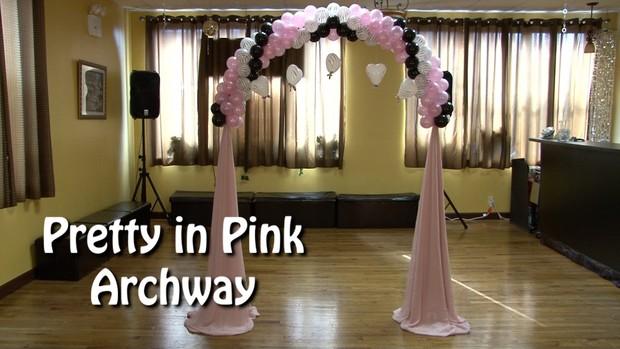 Pretty in Pink Balloon Arch Design by Alexa Rivera
