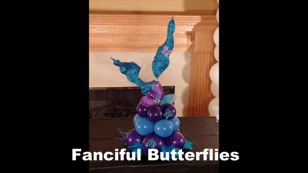 Fanciful Butterflies Balloon Centerpiece Design by Anne McGovern