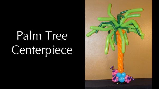 Palm Tree Balloon Centerpiece Design by Melissa Vinson