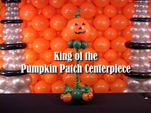 King of the Pumpkin Patch Jack O Lantern Balloon Centerpiece by Steven Jones