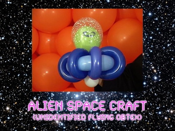 UFO / Alien Space Craft Balloon Sculpture by Jeff Hayes