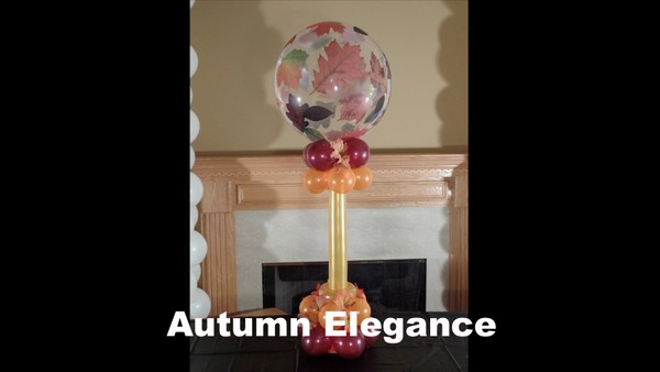 Autumn Elegance Balloon Centerpiece Design by Anne McGovern