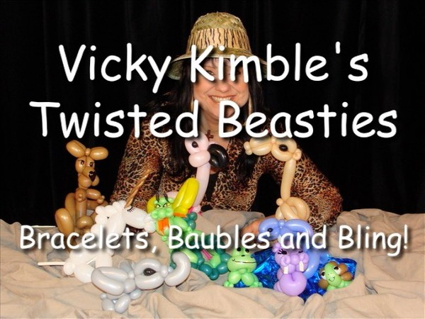 """Twisted Beasties"" with Vicky Kimble, CBA - Balloon Twisting Instructional Video"