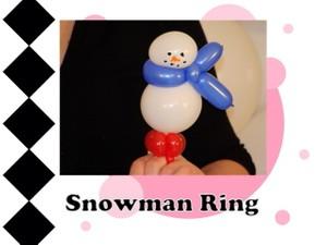 Snowman Balloon Ring Design by Melissa Vinson