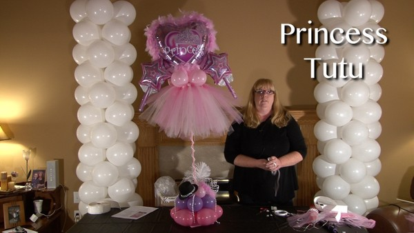 Princess Tutu Balloon Centerpiece Design by Anne McGovern