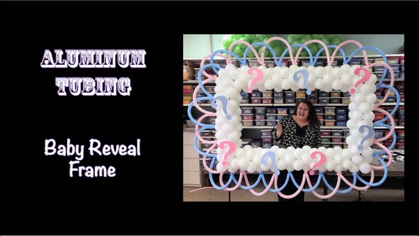 Baby Gender Reveal Balloon Photo Frame Design by Patty Sorell