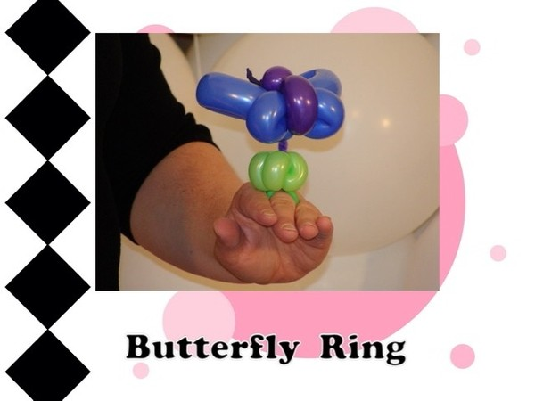 Butterfly Balloon Animal Ring Design by Melissa Vinson
