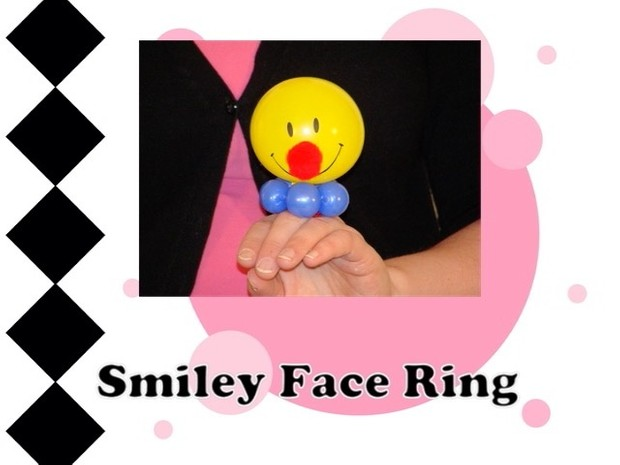 Smiley Face Balloon Ring by Melissa Vinson