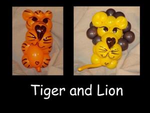 Tiger and Lion Balloon Animal Bracelets by Vicky Kimble